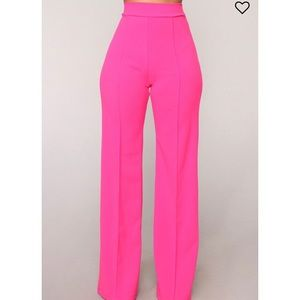 Magenta flare trousers